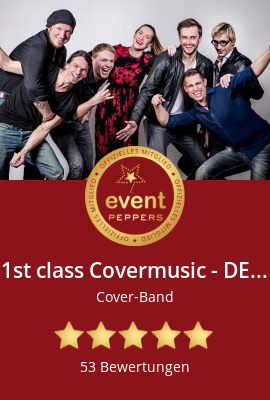 1st class Covermusic - DEAFACT Coverband bei eventpeppers buchen