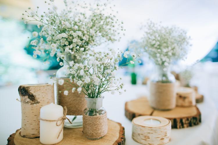 selbstgemachte Hochzeitsdeko Idee